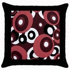 Decorative pattern Throw Pillow Case (Black)