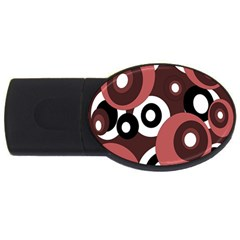 Decorative pattern USB Flash Drive Oval (1 GB)