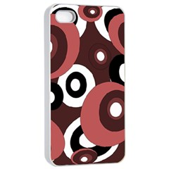 Decorative pattern Apple iPhone 4/4s Seamless Case (White)
