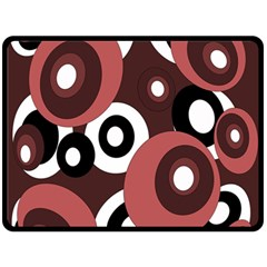 Decorative pattern Double Sided Fleece Blanket (Large)