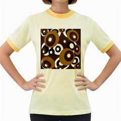 Brown pattern Women s Fitted Ringer T-Shirts
