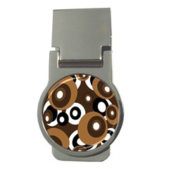 Brown pattern Money Clips (Round)
