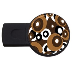 Brown pattern USB Flash Drive Round (2 GB)