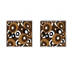 Brown pattern Cufflinks (Square)