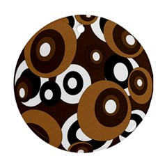 Brown pattern Round Ornament (Two Sides)