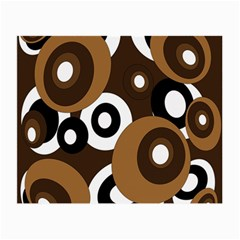 Brown pattern Small Glasses Cloth (2-Side)