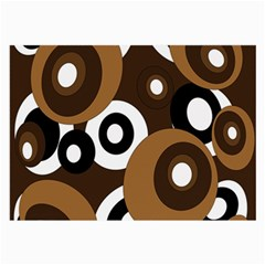 Brown pattern Large Glasses Cloth