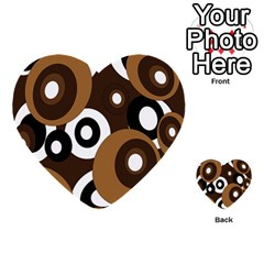 Brown pattern Multi-purpose Cards (Heart)