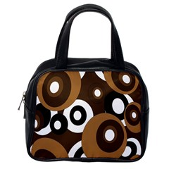 Brown pattern Classic Handbags (One Side)