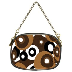 Brown pattern Chain Purses (One Side)