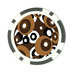 Brown pattern Poker Chip Card Guards (10 pack)