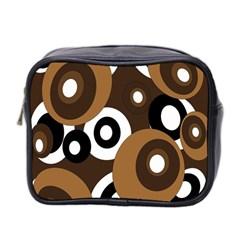 Brown pattern Mini Toiletries Bag 2-Side