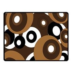 Brown pattern Fleece Blanket (Small)