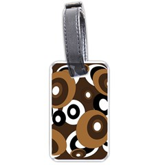 Brown pattern Luggage Tags (One Side)
