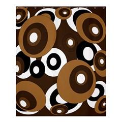 Brown pattern Shower Curtain 60  x 72  (Medium)