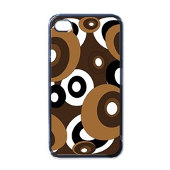 Brown pattern Apple iPhone 4 Case (Black)