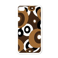 Brown pattern Apple iPhone 4 Case (White)