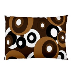 Brown pattern Pillow Case (Two Sides)