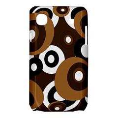 Brown pattern Samsung Galaxy SL i9003 Hardshell Case