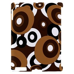 Brown pattern Apple iPad 2 Hardshell Case (Compatible with Smart Cover)