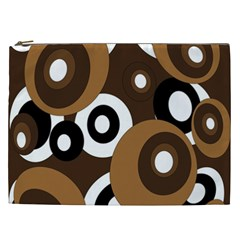 Brown pattern Cosmetic Bag (XXL)