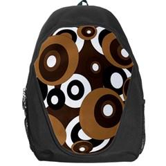 Brown pattern Backpack Bag