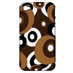 Brown pattern Apple iPhone 4/4S Hardshell Case (PC+Silicone)
