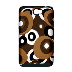 Brown pattern Samsung Galaxy Note 2 Hardshell Case (PC+Silicone)