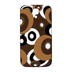 Brown pattern Samsung Galaxy S4 I9500/I9505  Hardshell Back Case