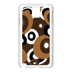 Brown pattern Samsung Galaxy Note 3 N9005 Case (White)