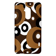 Brown pattern HTC One Max (T6) Hardshell Case