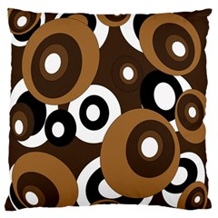 Brown pattern Large Flano Cushion Case (One Side)