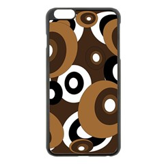 Brown pattern Apple iPhone 6 Plus/6S Plus Black Enamel Case