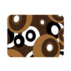Brown pattern Double Sided Flano Blanket (Mini)