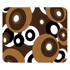 Brown pattern Double Sided Flano Blanket (Small)