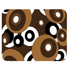 Brown pattern Double Sided Flano Blanket (Medium)