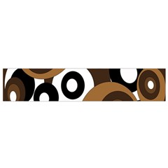 Brown pattern Flano Scarf (Small)