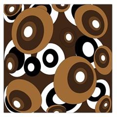 Brown pattern Large Satin Scarf (Square)