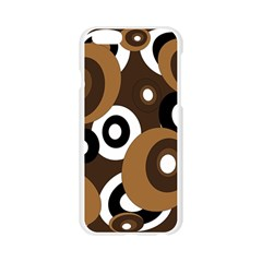 Brown pattern Apple Seamless iPhone 6/6S Case (Transparent)