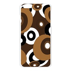 Brown pattern Apple Seamless iPhone 6 Plus/6S Plus Case (Transparent)
