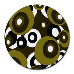 Green pattern Round Mousepads
