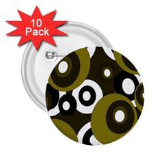 Green pattern 2.25  Buttons (10 pack)