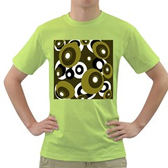 Green Pattern Green T Shirt