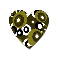 Green pattern Heart Magnet