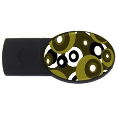 Green pattern USB Flash Drive Oval (1 GB)