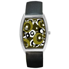 Green pattern Barrel Style Metal Watch