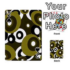 Green pattern Playing Cards 54 Designs