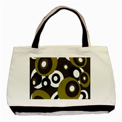 Green pattern Basic Tote Bag (Two Sides)