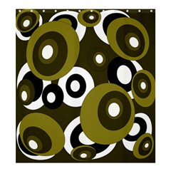 Green pattern Shower Curtain 66  x 72  (Large)