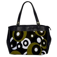 Green pattern Office Handbags